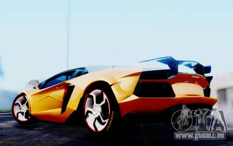 Lamborghini Aventador Mansory Carbonado Color für GTA San Andreas zurück linke Ansicht