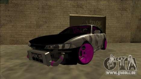 Nissan Silvia S14 Drift pour GTA San Andreas sur la vue arrière gauche