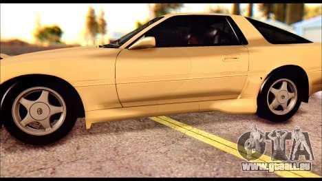 Toyota Supra MK3 Tunable pour GTA San Andreas vue de dessous