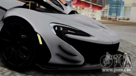 McLaren P1 GTR-VS 2013 pour GTA San Andreas vue arrière
