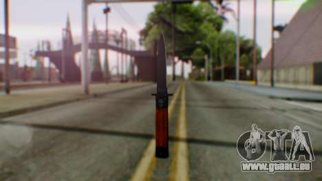 GTA 5 Bodyguard Switchblade für GTA San Andreas zweiten Screenshot