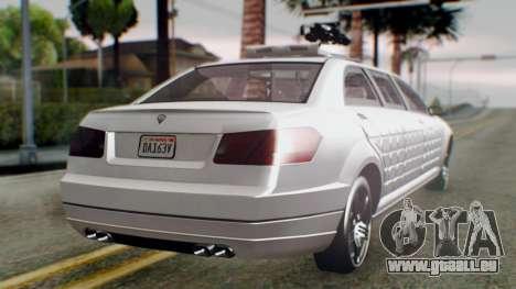 GTA 5 Benefactor Stretch E Turreted IVF pour GTA San Andreas laissé vue