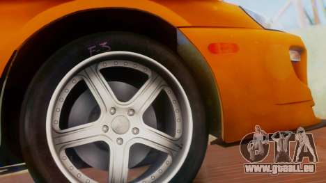 Toyota Supra TRD 1998 pour GTA San Andreas vue de droite