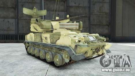 GTA 5 2К22 Tunguska droite vue latérale