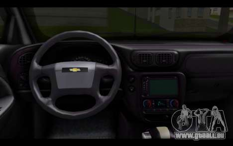 Chevrolet Traiblazer Off-Road pour GTA San Andreas sur la vue arrière gauche
