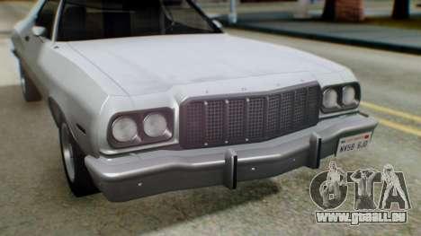 Ford Gran Torino 1974 IVF für GTA San Andreas Unteransicht