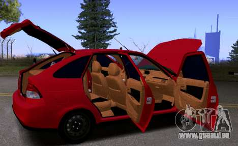 VAZ 2172 KBR pour GTA San Andreas vue intérieure