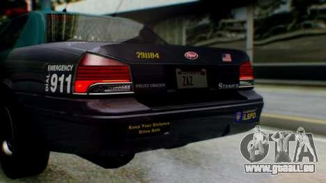 GTA 5 Vapid Stanier II Police IVF für GTA San Andreas Seitenansicht