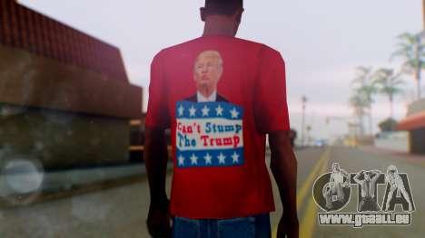Trump for President T-Shirt pour GTA San Andreas troisième écran