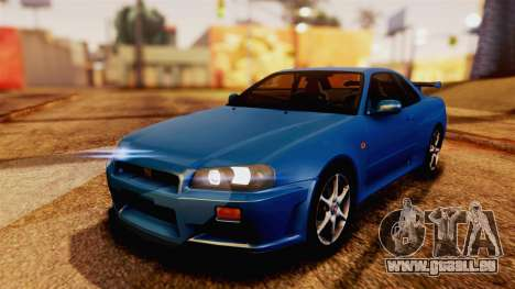 Nissan Skyline GT-R R34 V-spec 1999 pour GTA San Andreas