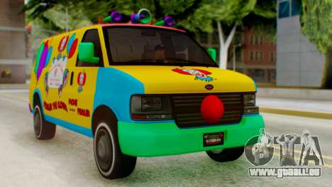 GTA 5 Vapid Clown Van pour GTA San Andreas