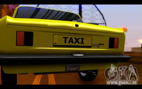 Zastava 125PZ Taxi pour GTA San Andreas vue intérieure