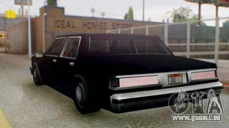 Unmarked Police Cutscene Car Stance für GTA San Andreas linke Ansicht