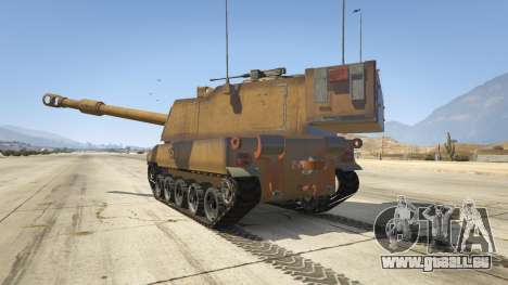 GTA 5 M109 (SAU) Paladin hinten links Seitenansicht