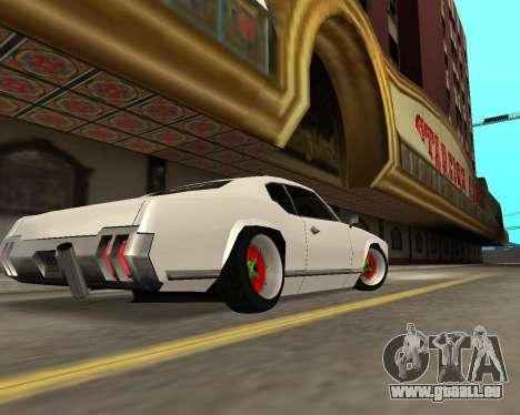 Sabre Boso pour GTA San Andreas vue arrière