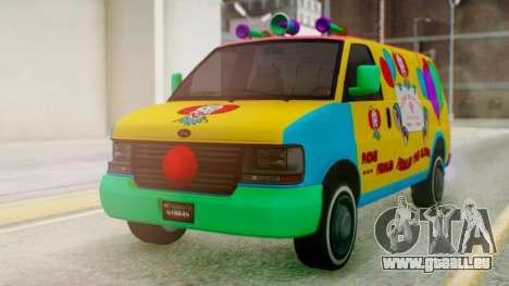 GTA 5 Vapid Clown Van für GTA San Andreas rechten Ansicht