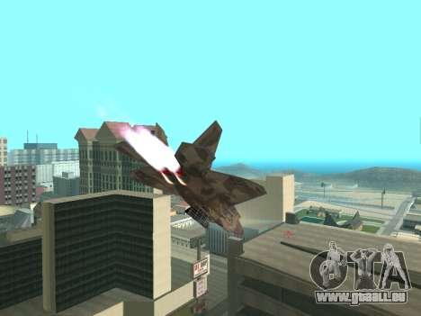 F-22 Raptor für GTA San Andreas rechten Ansicht