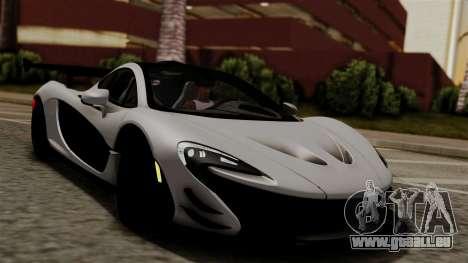 McLaren P1 GTR-VS 2013 pour GTA San Andreas vue de droite