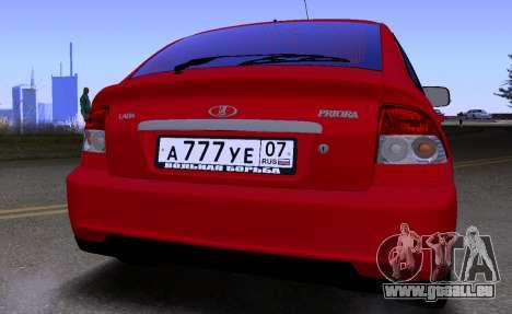 VAZ 2172 KBR pour GTA San Andreas vue de droite