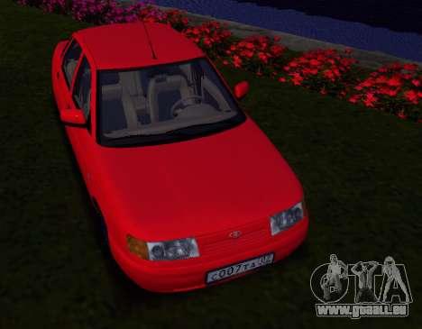 VAZ 2110 KBR pour GTA San Andreas sur la vue arrière gauche
