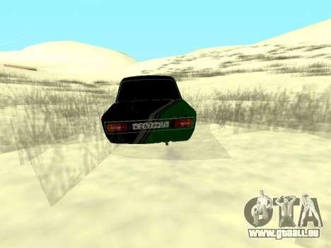 Vaz 2106 Ex animo Sport pour GTA San Andreas laissé vue