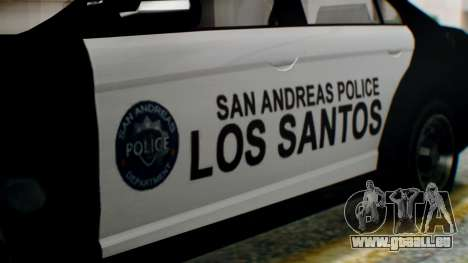 GTA 5 Police LS pour GTA San Andreas vue de droite