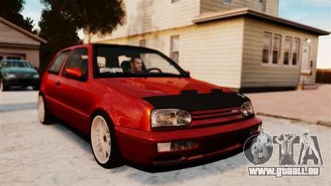 Volkswagen Golf VR6 1998 DTD Tuned pour GTA 4 Vue arrière de la gauche