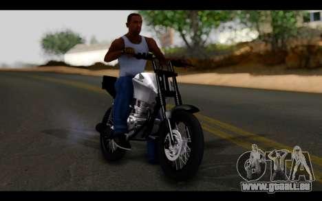 Honda CG Titan 150 Stunt Imitacion für GTA San Andreas Innenansicht