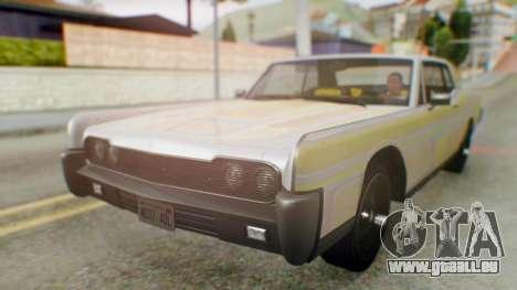 GTA 5 Vapid Chino Tunable IVF für GTA San Andreas obere Ansicht