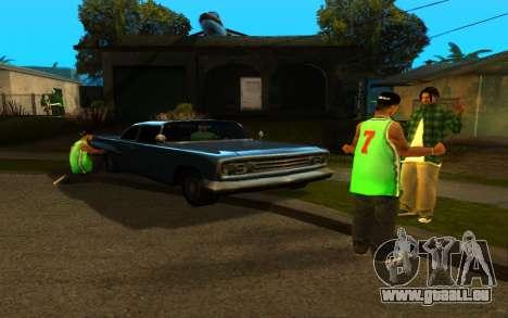 Die Wiederbelebung der Straße ganton für GTA San Andreas zweiten Screenshot