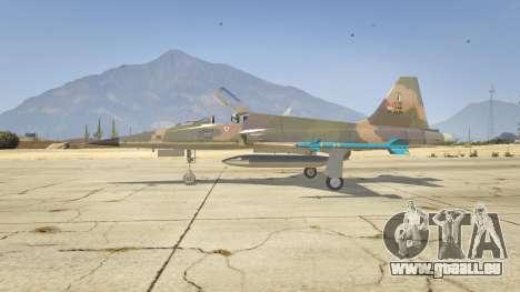GTA 5 Northrop F-5E Tiger II FAB deuxième capture d'écran