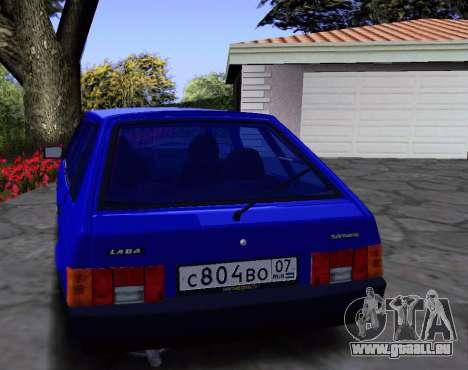 2109 KBR pour GTA San Andreas vue intérieure
