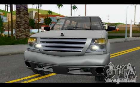 GTA 5 Albany Cavalcade IVF pour GTA San Andreas vue intérieure