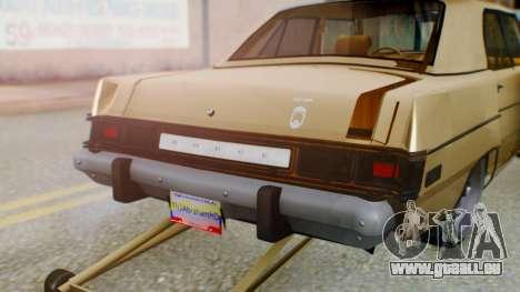 Dodge Dart 1975 Estilo Drag für GTA San Andreas Innenansicht