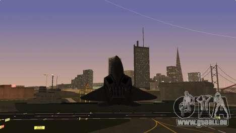 F-22 Raptor PJ für GTA San Andreas Rückansicht