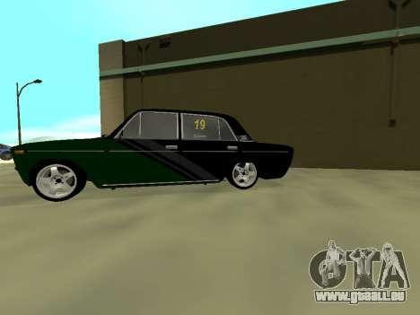 Vaz 2106 Ex animo Sport pour GTA San Andreas sur la vue arrière gauche