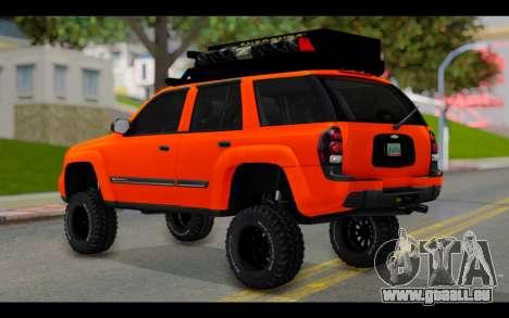 Chevrolet Traiblazer Off-Road pour GTA San Andreas laissé vue