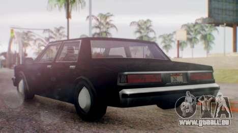 Unmarked Police Cutscene Car Normal pour GTA San Andreas laissé vue