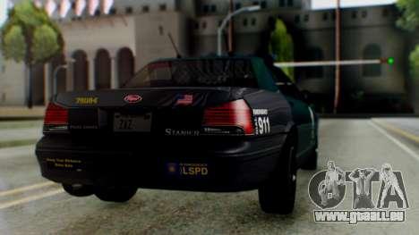 GTA 5 Vapid Stanier II Police IVF pour GTA San Andreas laissé vue
