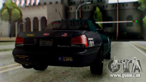 GTA 5 Vapid Stanier II Police IVF für GTA San Andreas linke Ansicht