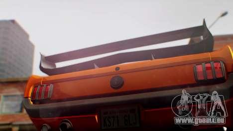 Ford Mustang 1966 Chrome Edition v2 Monster für GTA San Andreas Rückansicht
