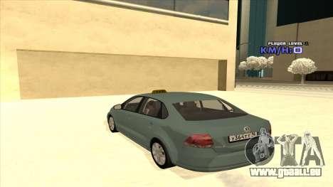 Volkswagen Polo pour GTA San Andreas vue de dessous