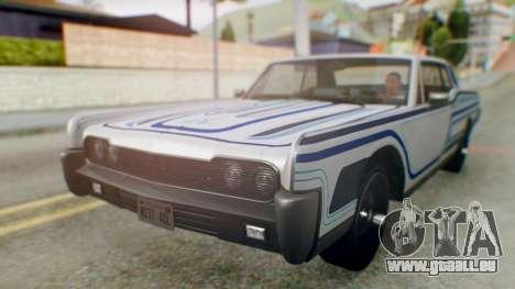 GTA 5 Vapid Chino Tunable IVF für GTA San Andreas Innen