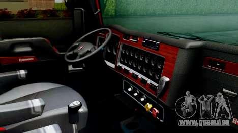 Kenworth T600 Aerocab 72 Sleeper für GTA San Andreas Rückansicht