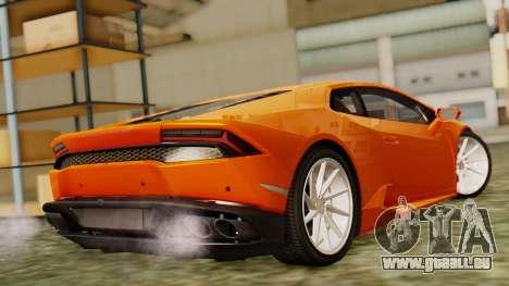 Lamborghini Huracan LP610-4 2015 pour GTA San Andreas laissé vue