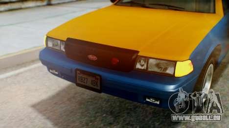 Vapid Taxi with Livery pour GTA San Andreas vue intérieure
