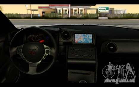Nissan GT-R Policija pour GTA San Andreas vue intérieure