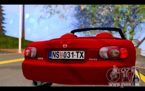 Mazda MX-5 für GTA San Andreas Innenansicht