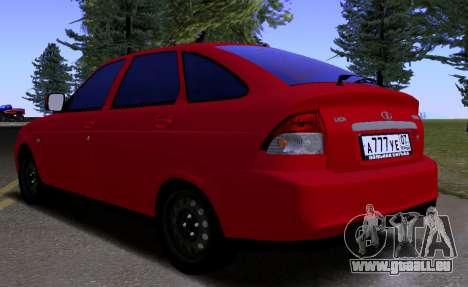 VAZ 2172 KBR pour GTA San Andreas sur la vue arrière gauche
