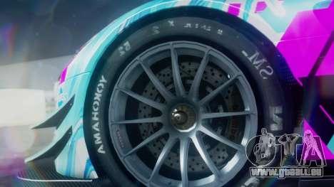 Mercedes-Benz SLS AMG GT3 2015 Hatsune Miku für GTA San Andreas rechten Ansicht